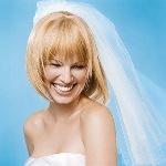 Как закрепить фату в свадебной прическе на каре