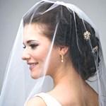 Свадебные прически с начесом и фатой