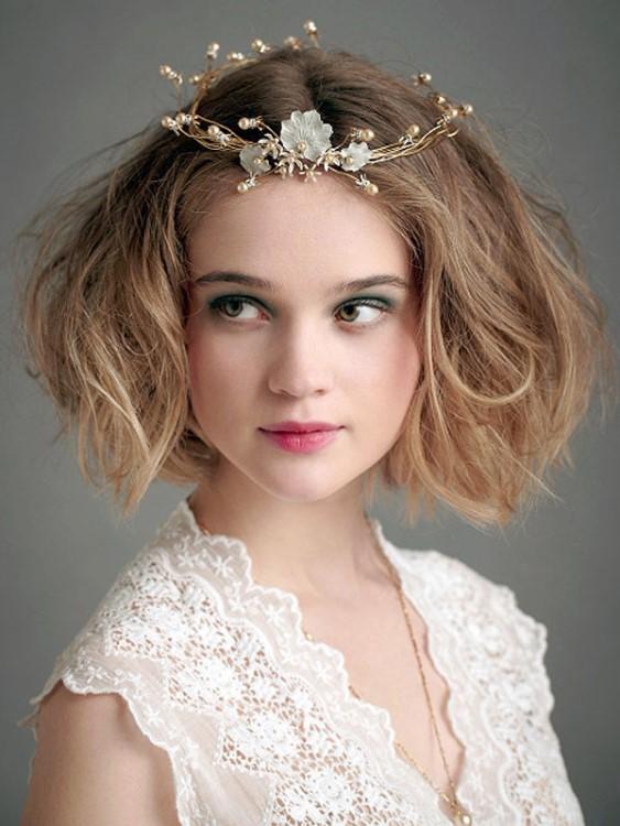 Каре свадебная причёска
