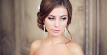 Свадебные прически низкий пучок