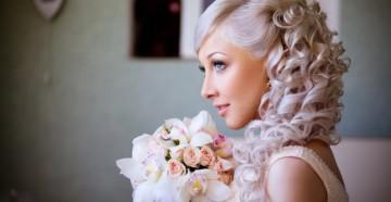 Укладка свадебной прически с накладными прядями