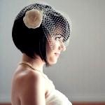 Как закрепить фату на свадебной прическе каре