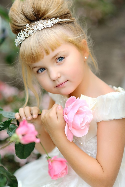 Свадебные прически для детей фото