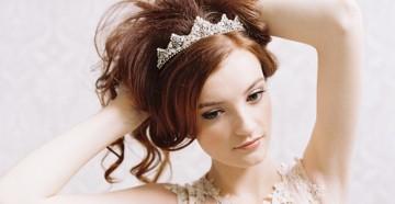 Свадебные прически с начесом на средние волосы