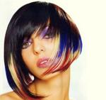 Чем окрасить цветные пряди на темных волосах в домашних условиях