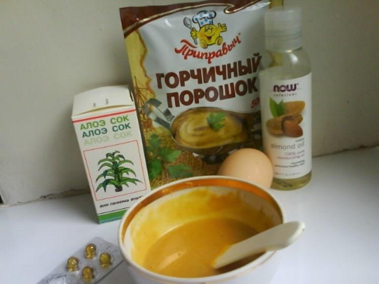Рецепты масок для волосиз горчичного порошка