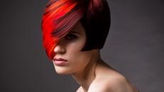 Градиентное окрашивание волос на каре