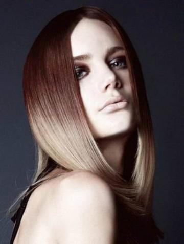 Окраска волос омбре на средние волосы