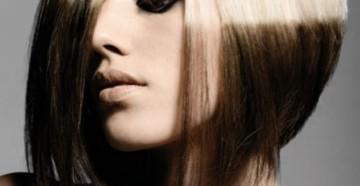 Окрашивание волос в два цвета на короткие волосы