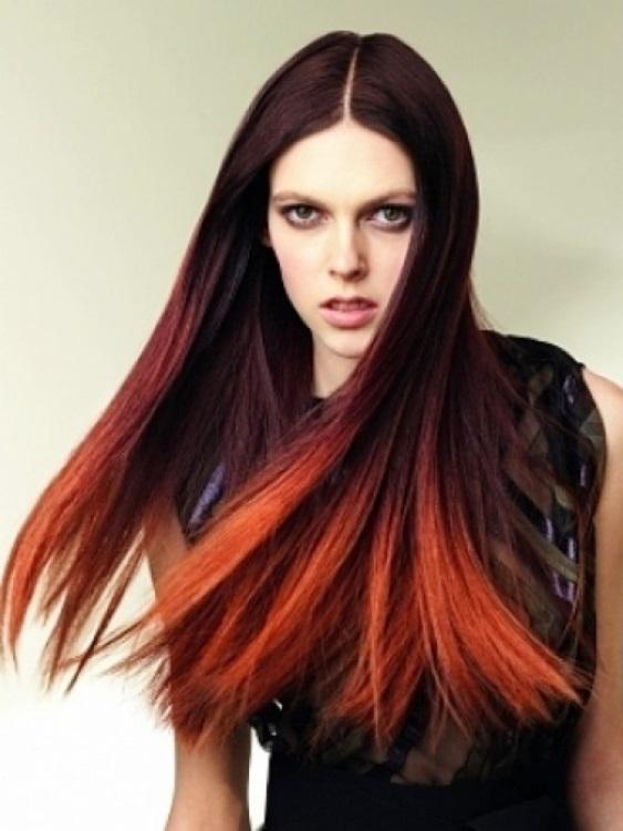 Покраска в два цвета на кудрявые волосы