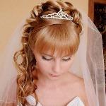 Фото свадебных причесок на длинные волосы с челкой