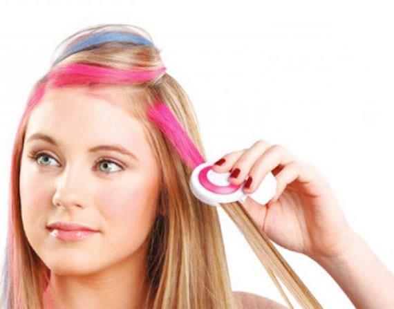 Как красить волосы пастель-тенями