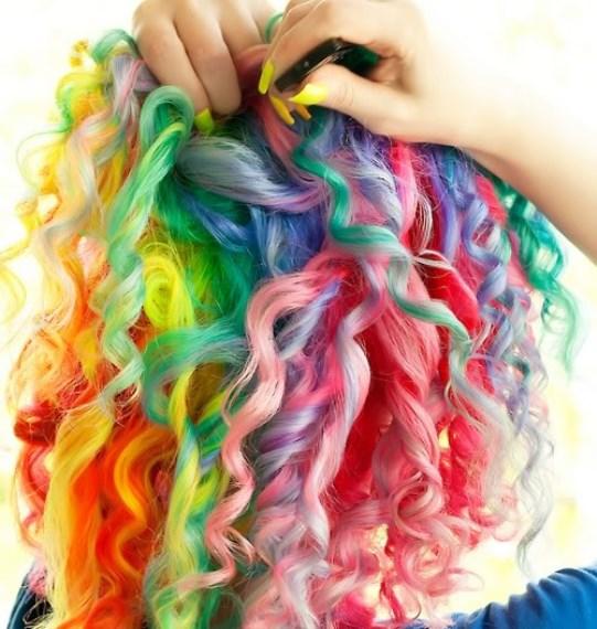 Способы использования мелков для волос