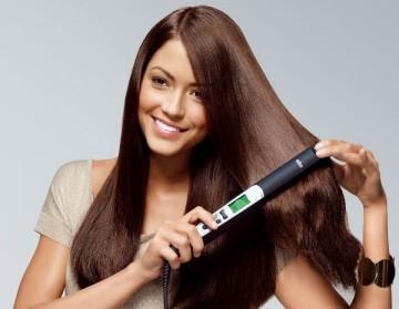 Как правильно выпрямлять утюжком самой вьющиеся волосы
