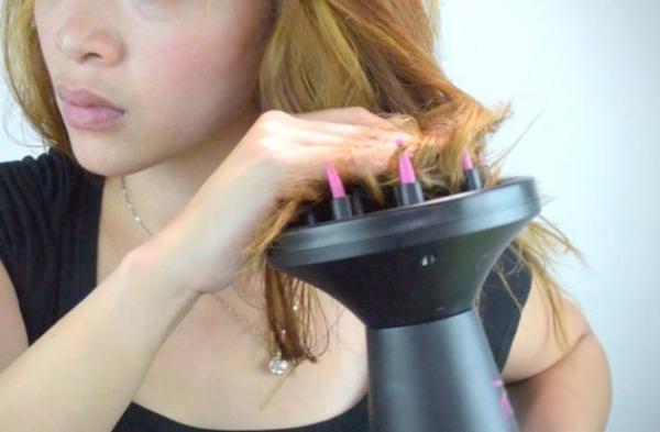 Как уложить диффузором тонкие волосы