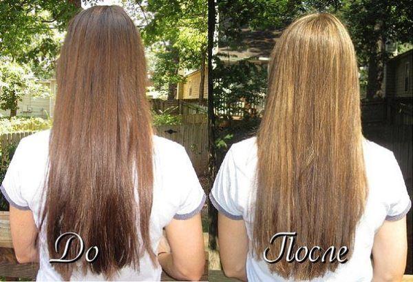 Когда появится эффект от осветления волос лимоном