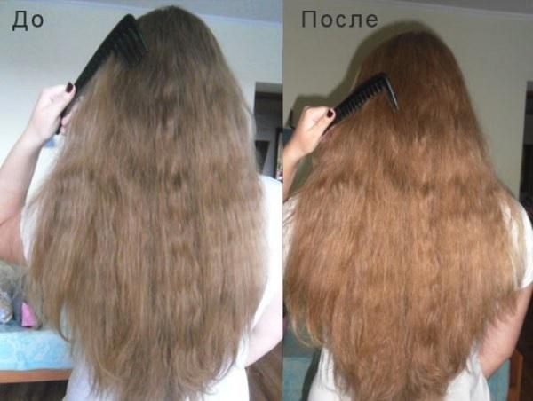 Бесцветная хна на светлых волосах